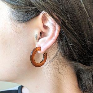 Vintage Acetate Hoop Earrings